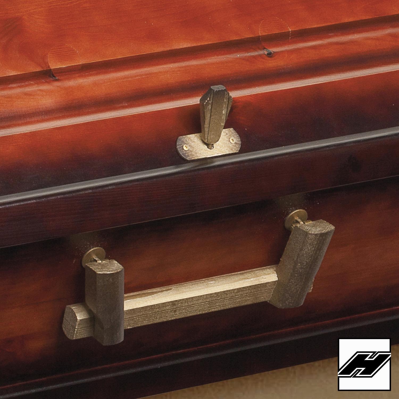 Griffgarnitur 321 Massivholz altgold bronziert 6/6
